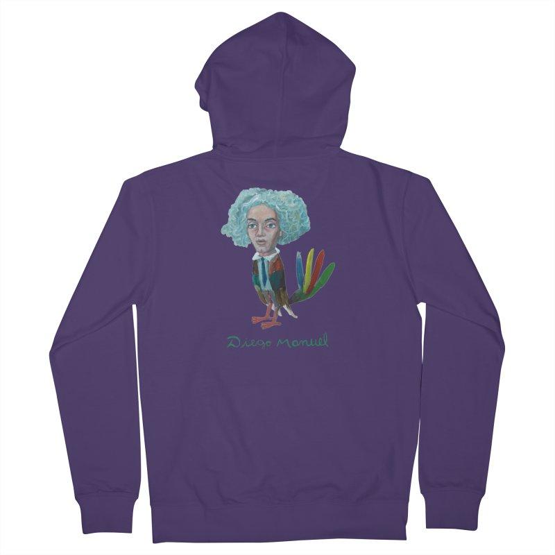 Beethoven bird 4 Women's French Terry Zip-Up Hoody by diegomanuel's Artist Shop