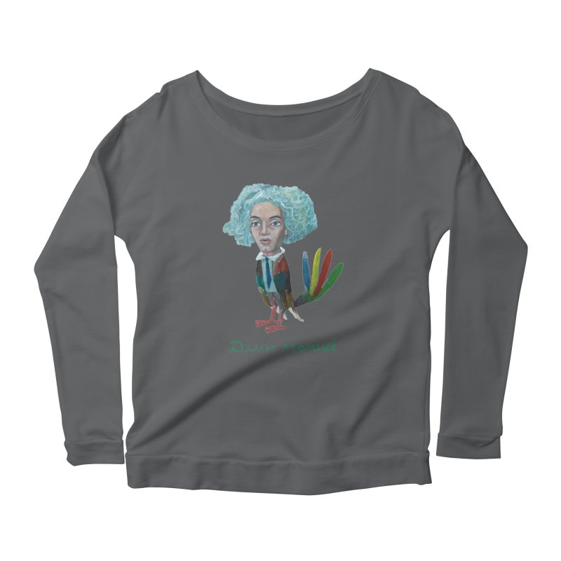 Beethoven bird 4 Women's Longsleeve T-Shirt by Diego Manuel Rodriguez Artist Shop