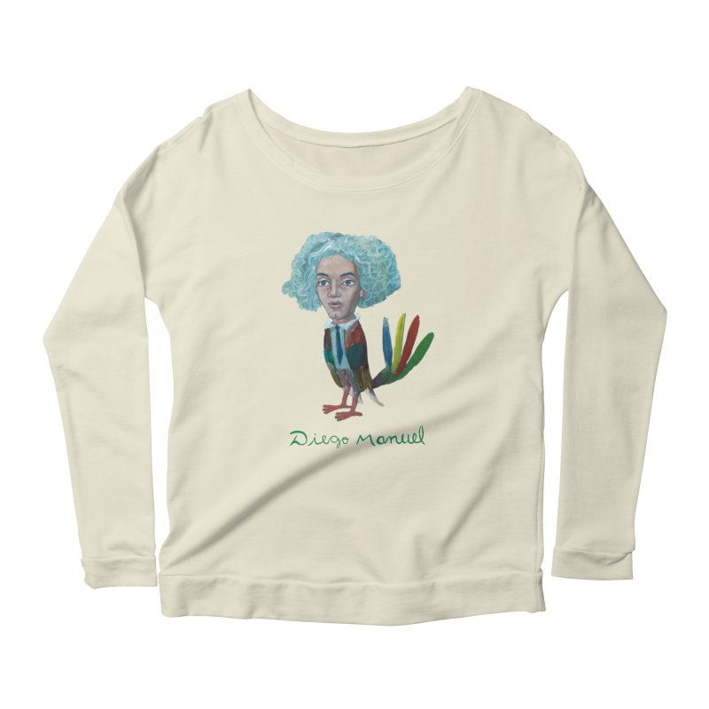 Beethoven bird 4 Women's Scoop Neck Longsleeve T-Shirt by diegomanuel's Artist Shop