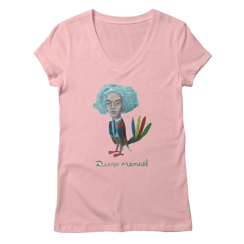 Beethoven bird 4 Women's Regular V-Neck by diegomanuel's Artist Shop