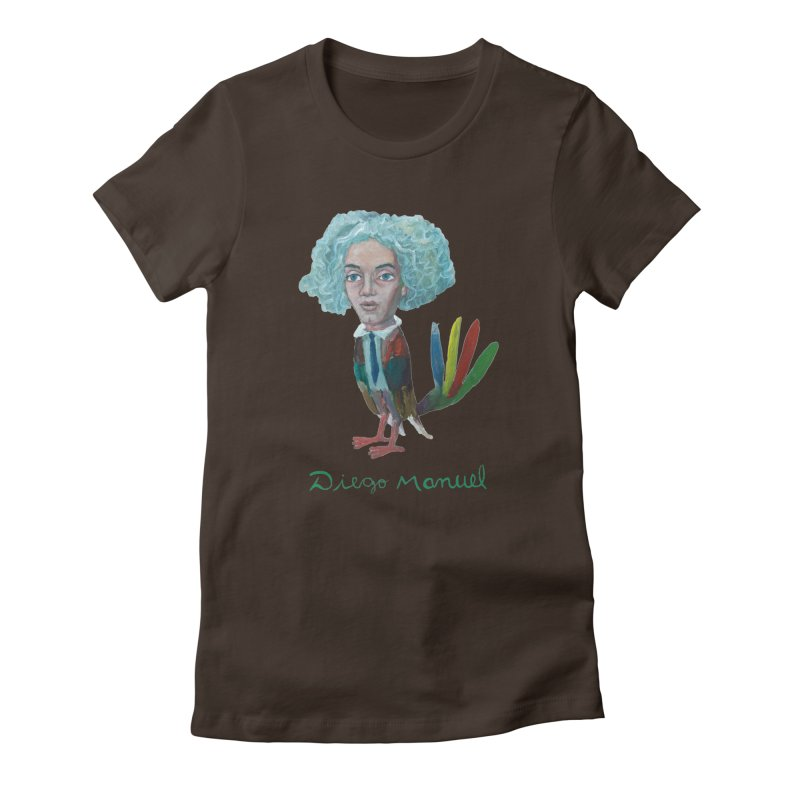 Beethoven bird 4 Women's Fitted T-Shirt by diegomanuel's Artist Shop