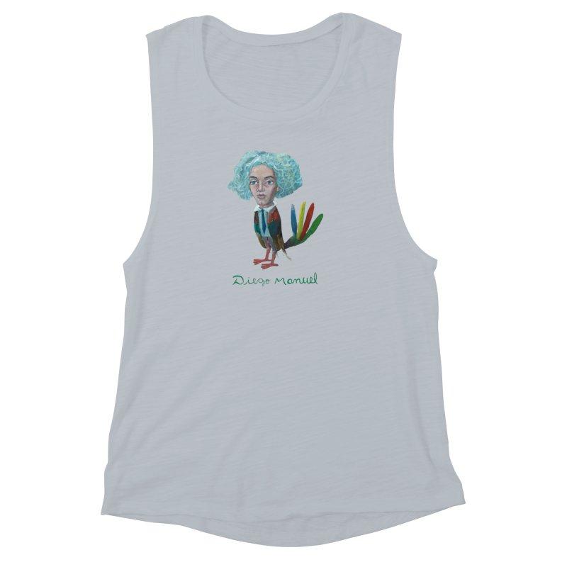 Beethoven bird 4 Women's Muscle Tank by diegomanuel's Artist Shop