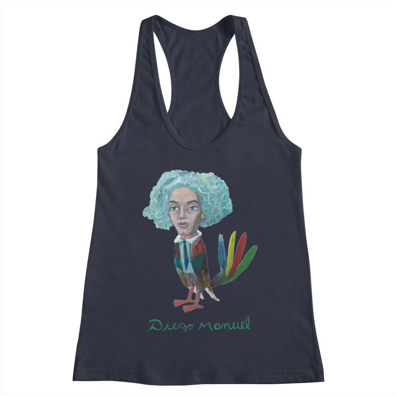 Beethoven bird 4 Women's Racerback Tank by diegomanuel's Artist Shop