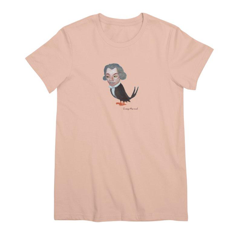 Beethoven bird Women's Premium T-Shirt by diegomanuel's Artist Shop