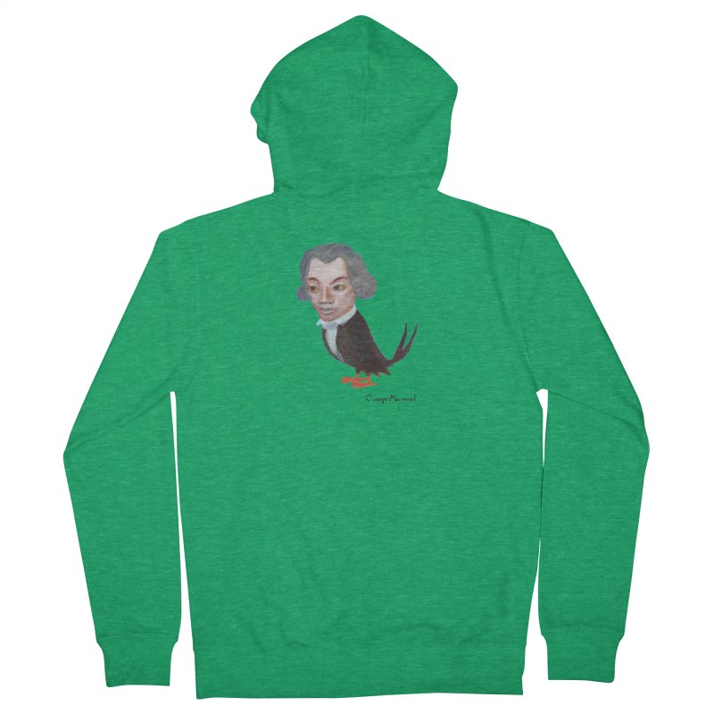 Beethoven bird Women's Zip-Up Hoody by diegomanuel's Artist Shop