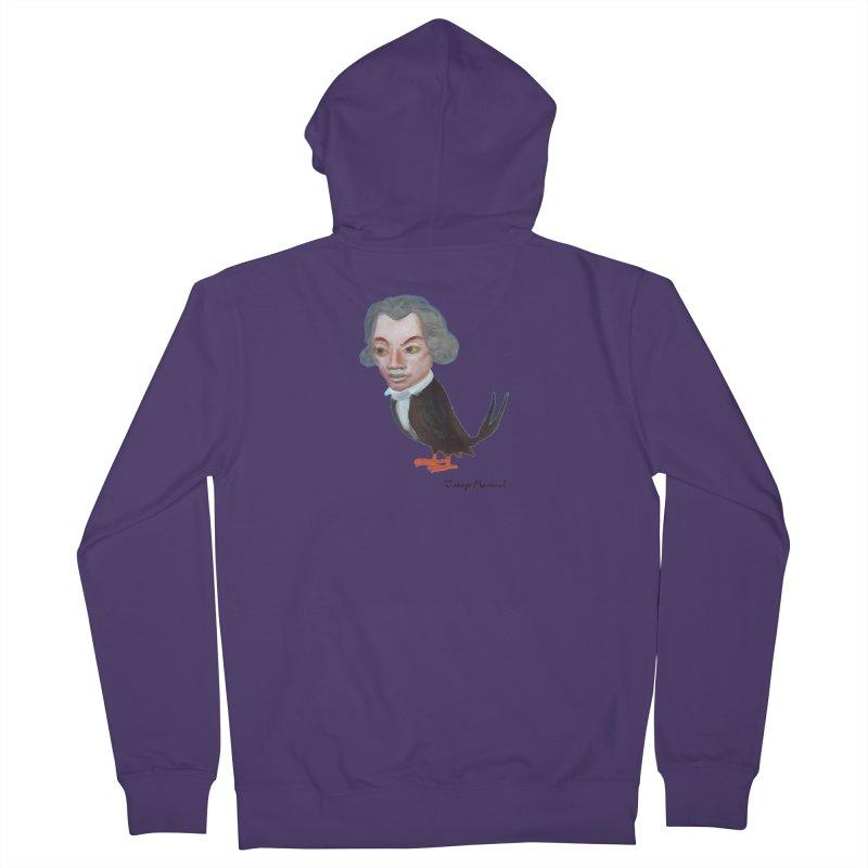 Beethoven bird Women's French Terry Zip-Up Hoody by diegomanuel's Artist Shop