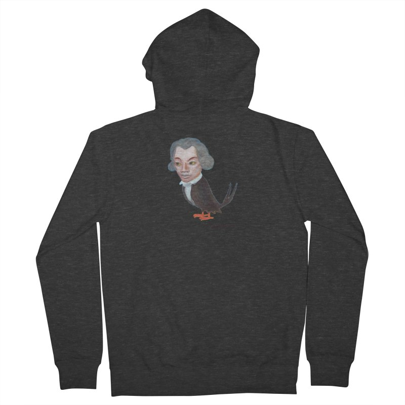 Beethoven bird Men's Zip-Up Hoody by Diego Manuel Rodriguez Artist Shop