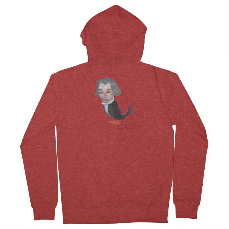 Beethoven bird Men's French Terry Zip-Up Hoody by diegomanuel's Artist Shop