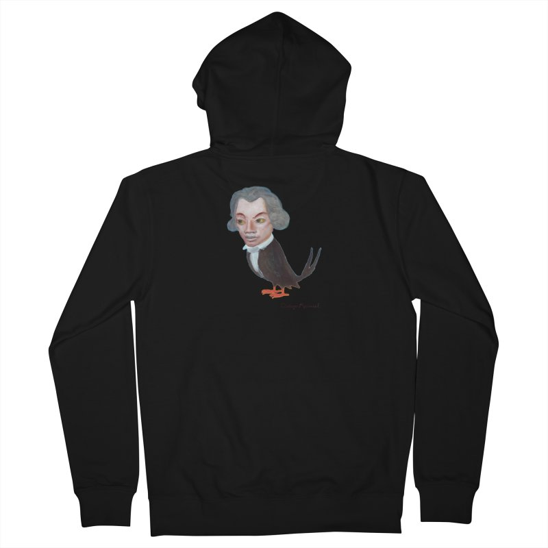 Beethoven bird Men's Zip-Up Hoody by Diego Manuel Rodriguez Artist Shop