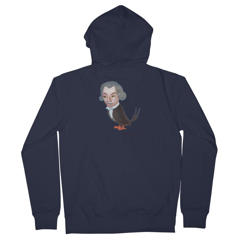 Beethoven bird Men's French Terry Zip-Up Hoody by diegomanuel's Artist Shop