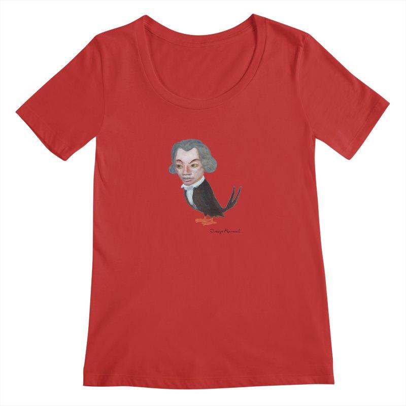 Beethoven bird Women's Regular Scoop Neck by diegomanuel's Artist Shop