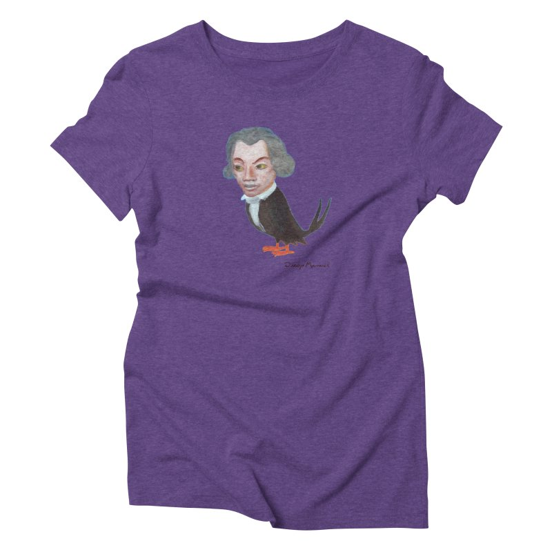 Beethoven bird Women's T-Shirt by Diego Manuel Rodriguez Artist Shop