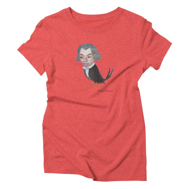 Beethoven bird Women's T-Shirt by Diego Manuel Rodriguez Artist Shop
