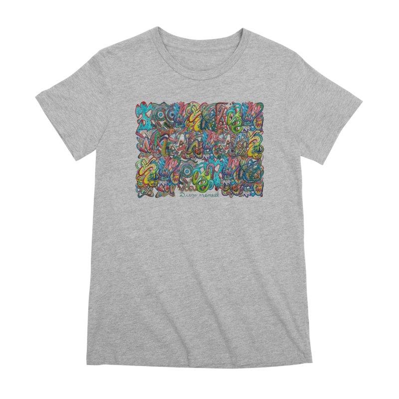 Graffiti 2 Women's Premium T-Shirt by diegomanuel's Artist Shop