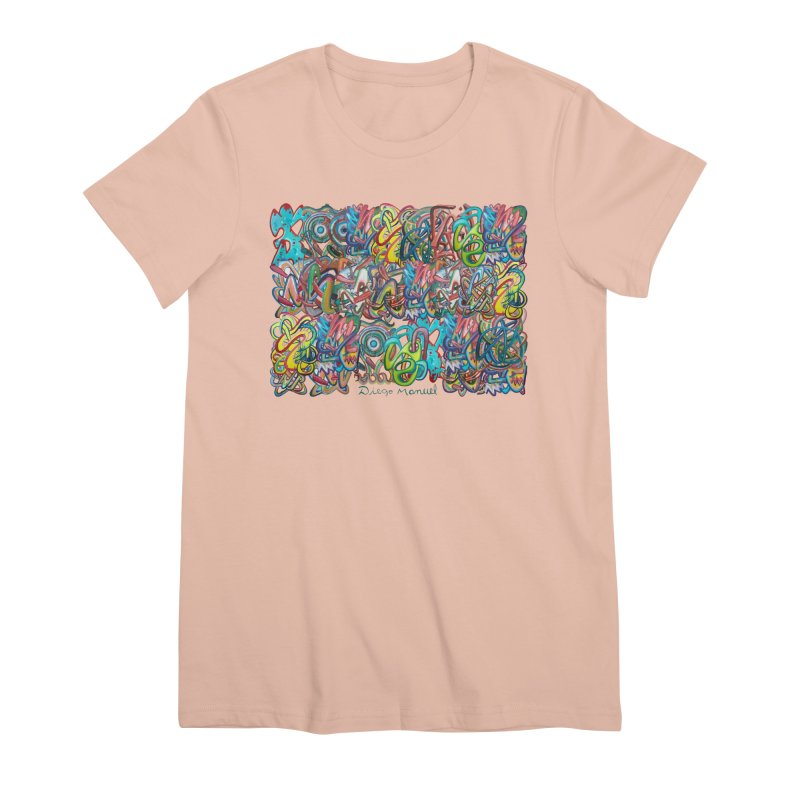 Graffiti 2 Women's Premium T-Shirt by diegomanuel's Artist Shop