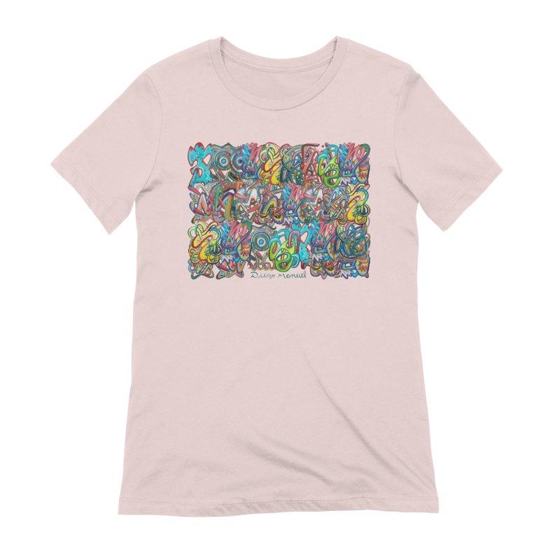 Graffiti 2 Women's Extra Soft T-Shirt by diegomanuel's Artist Shop
