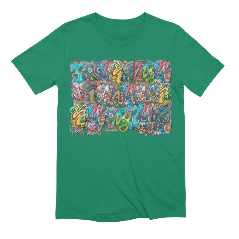 Graffiti 2 Men's Extra Soft T-Shirt by diegomanuel's Artist Shop
