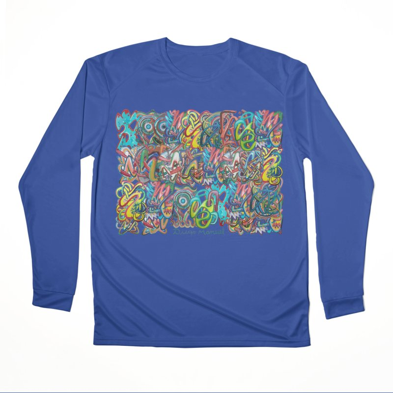 Graffiti 2 Women's Performance Unisex Longsleeve T-Shirt by diegomanuel's Artist Shop
