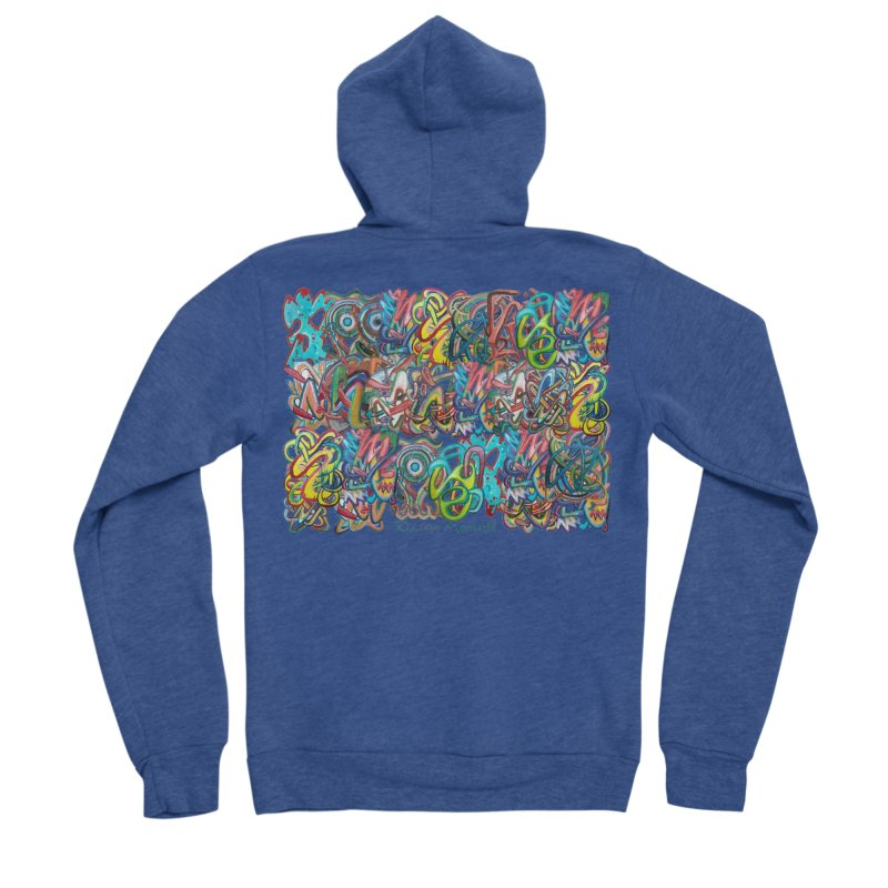 Graffiti 2 Women's Sponge Fleece Zip-Up Hoody by diegomanuel's Artist Shop