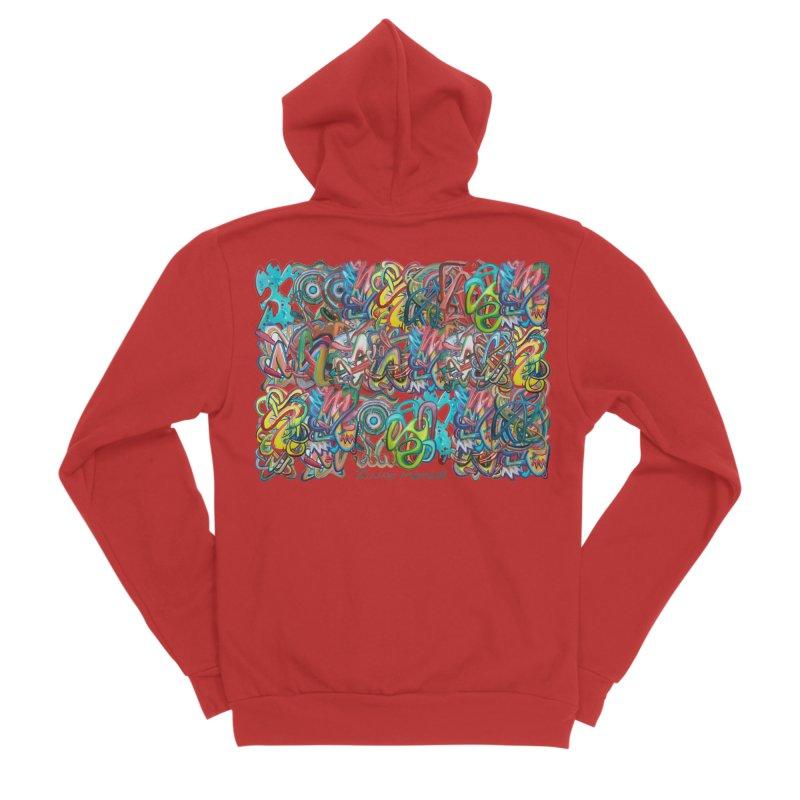 Graffiti 2 Women's Sponge Fleece Zip-Up Hoody by diegomanuel's Artist Shop