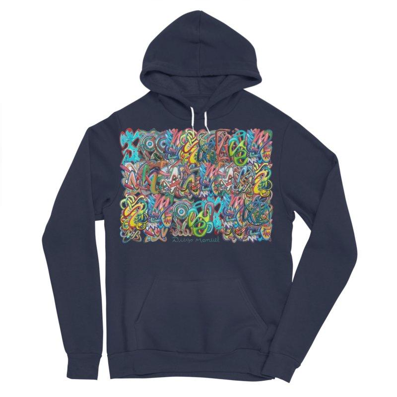 Graffiti 2 Women's Sponge Fleece Pullover Hoody by diegomanuel's Artist Shop