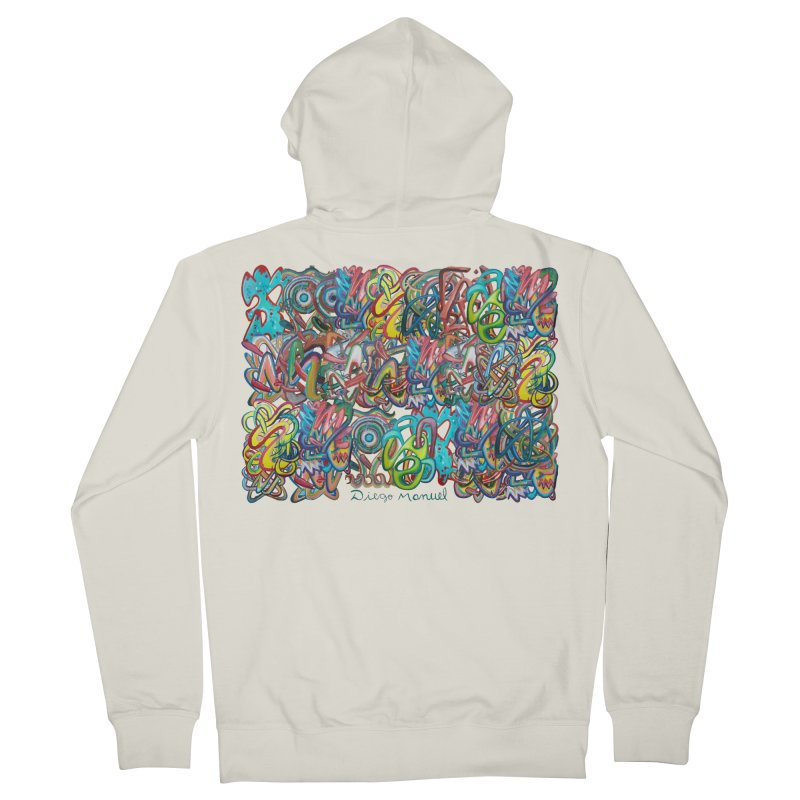Graffiti 2 Women's French Terry Zip-Up Hoody by diegomanuel's Artist Shop