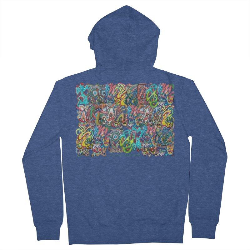 Graffiti 2 Men's French Terry Zip-Up Hoody by diegomanuel's Artist Shop