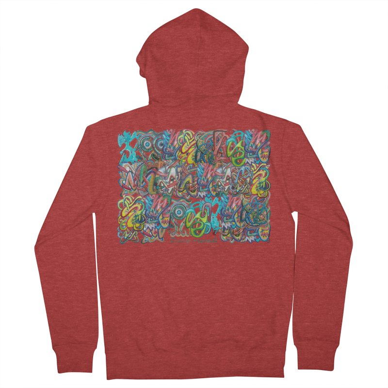 Graffiti 2 Men's Zip-Up Hoody by Diego Manuel Rodriguez Artist Shop