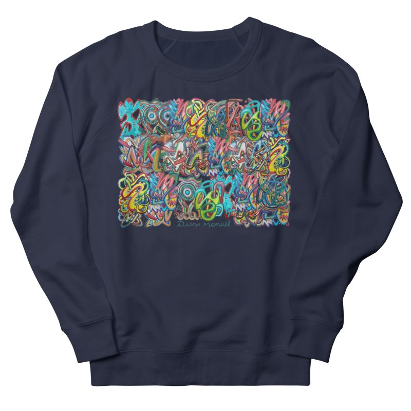 Graffiti 2 Women's French Terry Sweatshirt by diegomanuel's Artist Shop