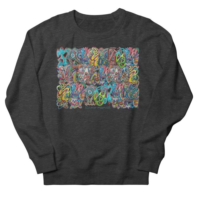 Graffiti 2 Men's French Terry Sweatshirt by diegomanuel's Artist Shop