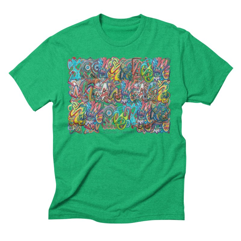 Graffiti 2 Men's Triblend T-Shirt by diegomanuel's Artist Shop
