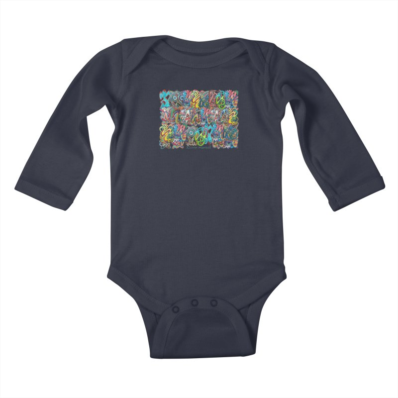 Graffiti 2 Kids Baby Longsleeve Bodysuit by diegomanuel's Artist Shop