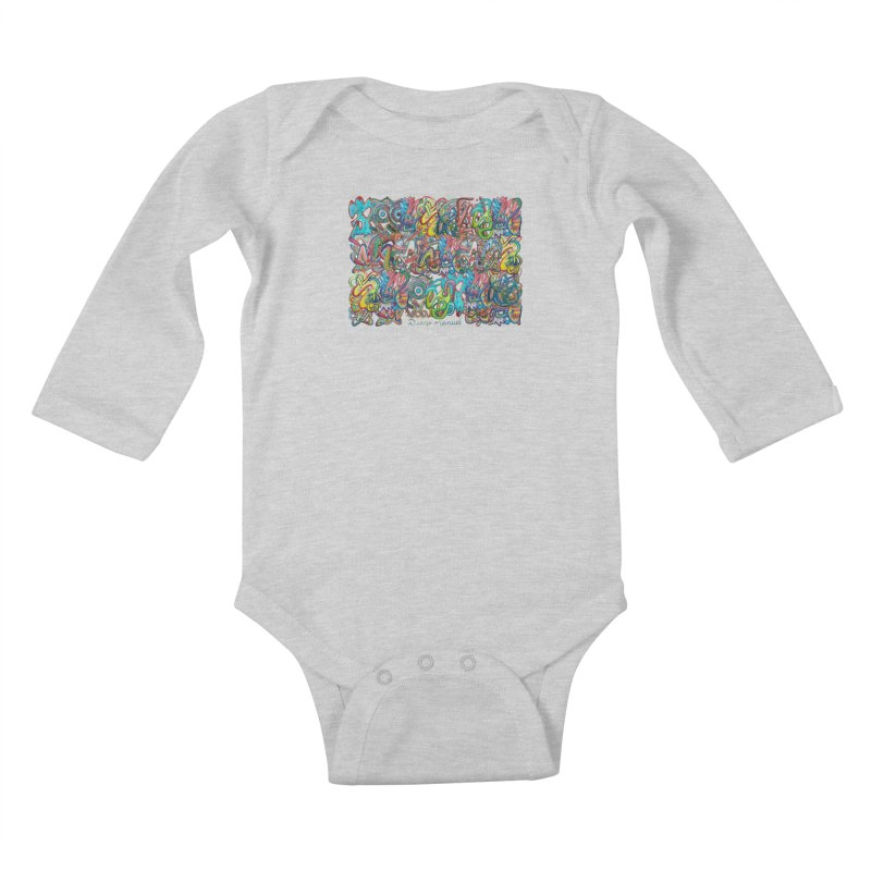 Graffiti 2 Kids Baby Longsleeve Bodysuit by diegomanuel's Artist Shop