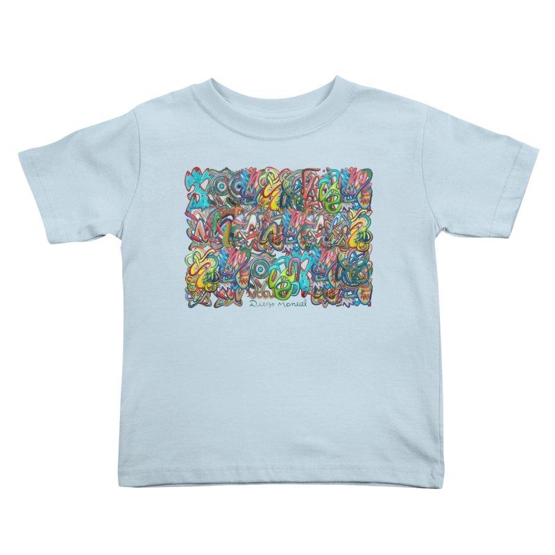 Graffiti 2 Kids Toddler T-Shirt by diegomanuel's Artist Shop