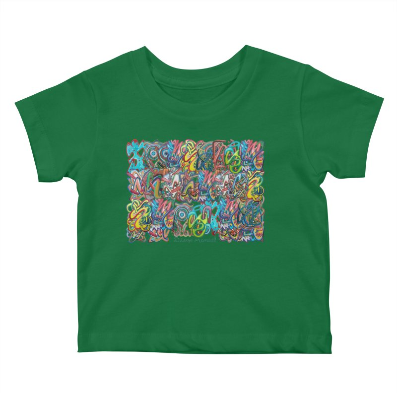 Graffiti 2 Kids Baby T-Shirt by diegomanuel's Artist Shop