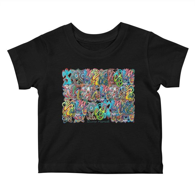 Graffiti 2 Kids Baby T-Shirt by diegomanuel's Artist Shop