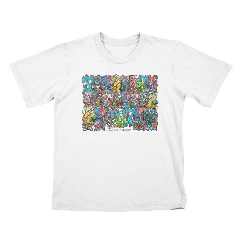Graffiti 2 Kids T-Shirt by diegomanuel's Artist Shop