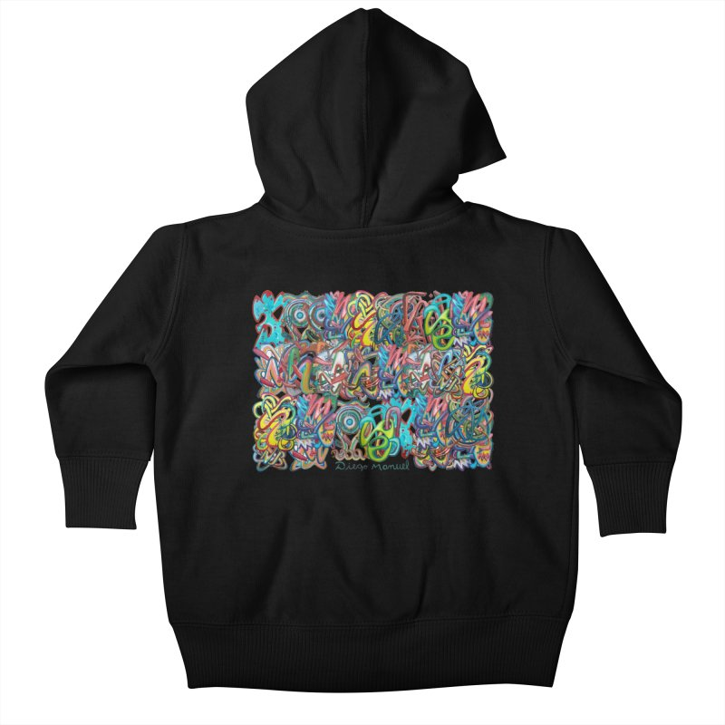Graffiti 2 Kids Baby Zip-Up Hoody by diegomanuel's Artist Shop
