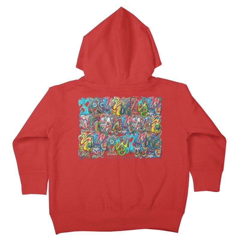 Graffiti 2 Kids Toddler Zip-Up Hoody by diegomanuel's Artist Shop