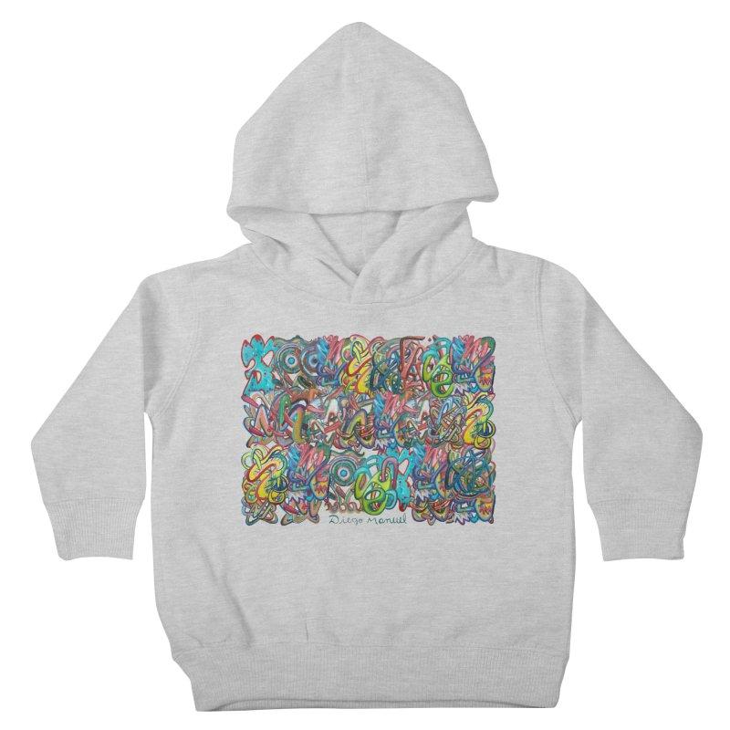 Graffiti 2 Kids Toddler Pullover Hoody by diegomanuel's Artist Shop