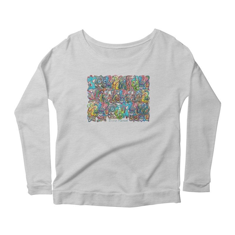 Graffiti 2 Women's Scoop Neck Longsleeve T-Shirt by diegomanuel's Artist Shop