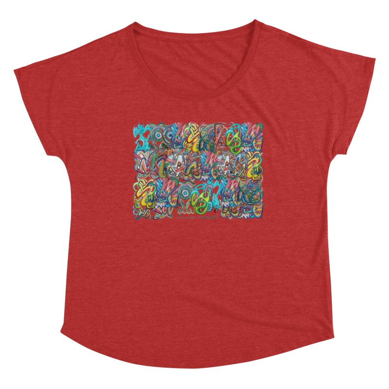 Graffiti 2 Women's Dolman Scoop Neck by diegomanuel's Artist Shop