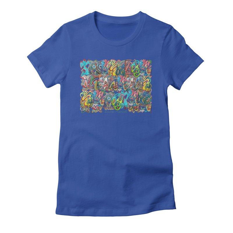 Graffiti 2 Women's Fitted T-Shirt by diegomanuel's Artist Shop