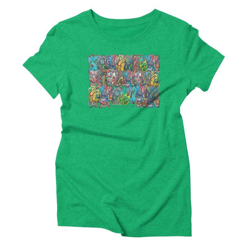 Graffiti 2 Women's Triblend T-Shirt by diegomanuel's Artist Shop