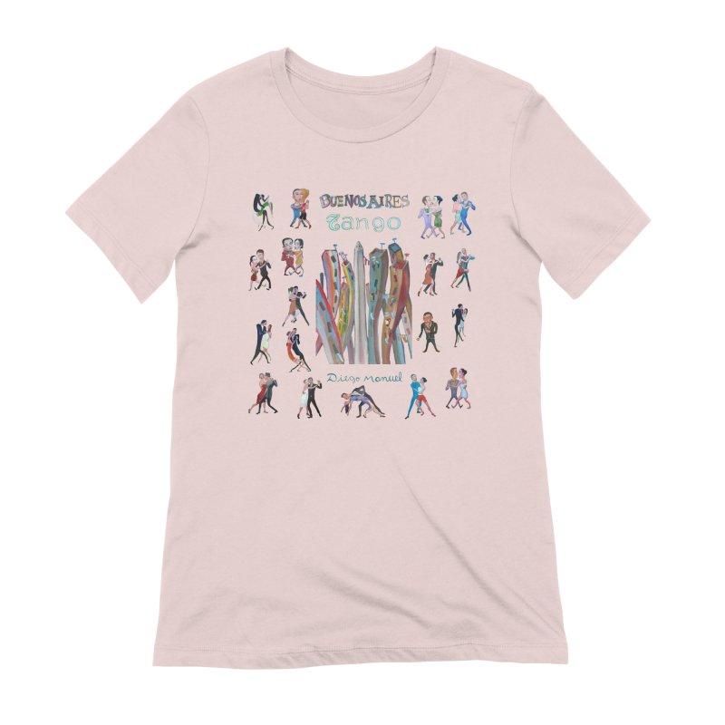 Buenos Aires tango 7 Women's Extra Soft T-Shirt by diegomanuel's Artist Shop