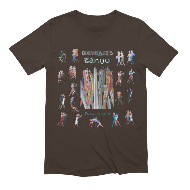 Buenos Aires tango 7 Men's Extra Soft T-Shirt by diegomanuel's Artist Shop