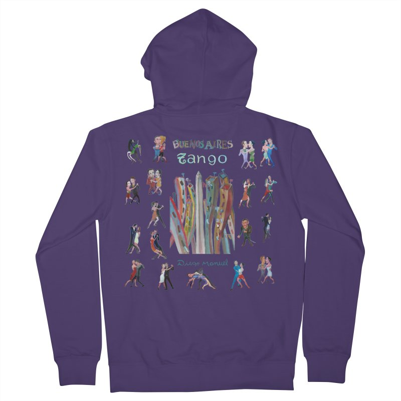 Buenos Aires tango 7 Women's French Terry Zip-Up Hoody by diegomanuel's Artist Shop