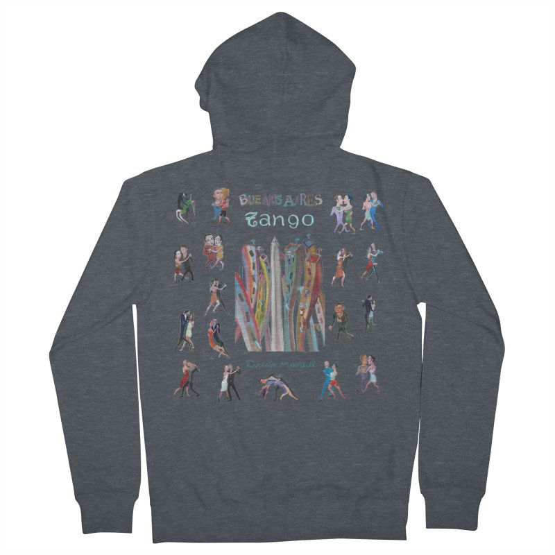 Buenos Aires tango 7 Men's French Terry Zip-Up Hoody by diegomanuel's Artist Shop