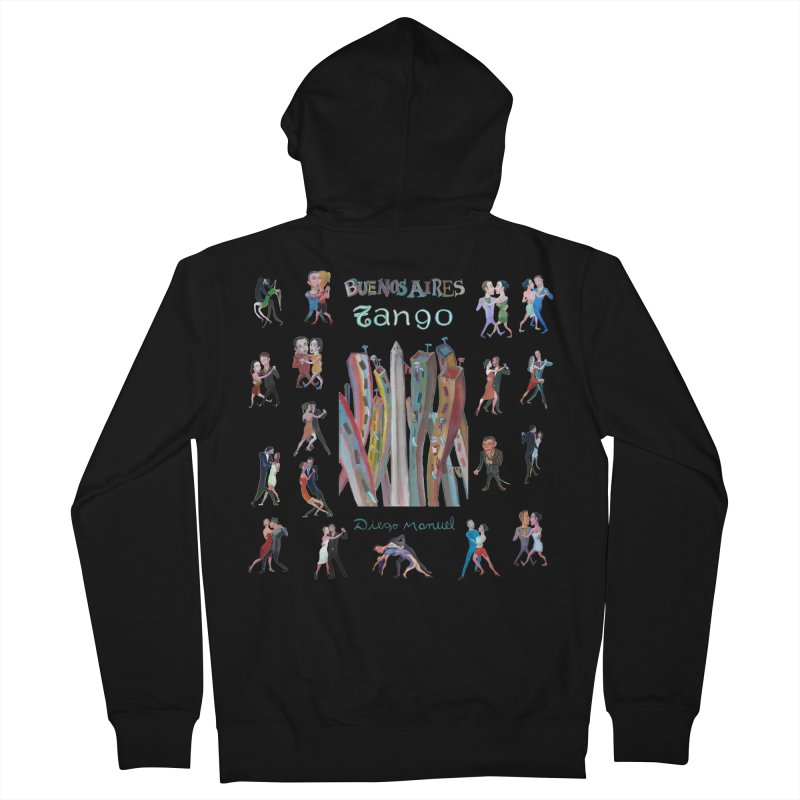 Buenos Aires tango 7 Men's Zip-Up Hoody by Diego Manuel Rodriguez Artist Shop