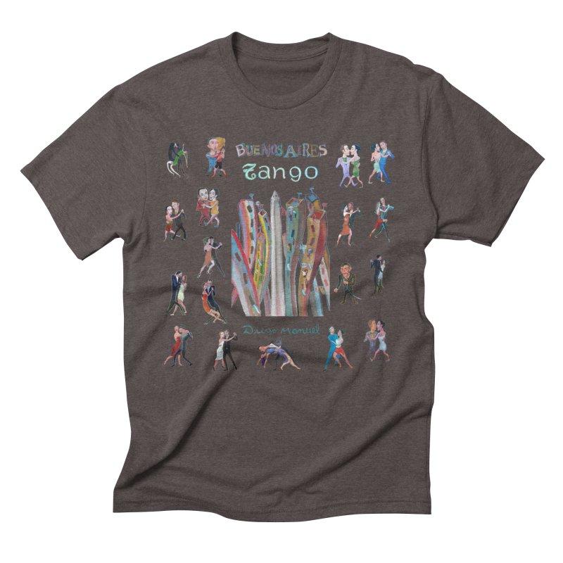 Buenos Aires tango 7 Men's Triblend T-Shirt by diegomanuel's Artist Shop